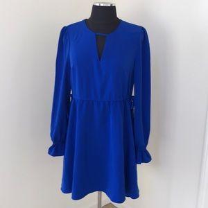 NWT! Express XS/TP Blue Long Sleeve Dress